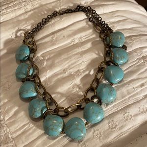 Light Turquoise Colored Stone Necklace